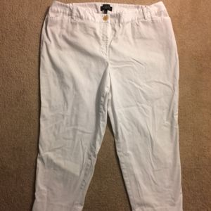 Talbots Woman The Perfect Crop in white